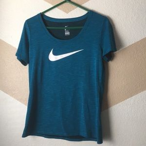 Teal Nike Dri Fit  Athletic T-shirt size Med